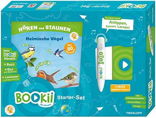 BOOKii® Starter-Set. Hören und Staunen Heimische Vögel: BOOKii® Der Hörstift mit Aufnahmefunktion und BOOKii® Hören und Staunen. Heimische Vögel