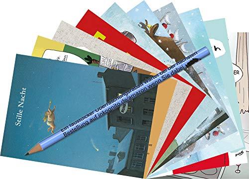 10-er Set Postarten A6 • MIX-0926 ''Postkarten-Set Weihnachten'' von Inkognito • Künstler: INKOGNITO • zu Anlässen • Weihnachten • im Set