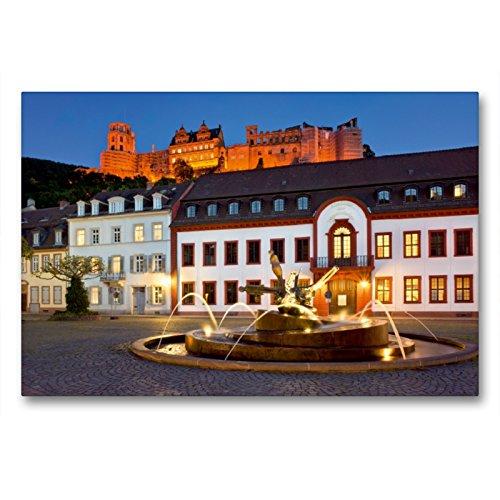 Premium Textil-Leinwand 90 x 60 cm Quer-Format Karlsplatz in Heidelberg | Wandbild, HD-Bild auf Keilrahmen, Fertigbild auf hochwertigem Vlies, Leinwanddruck von Jan Christopher Becke