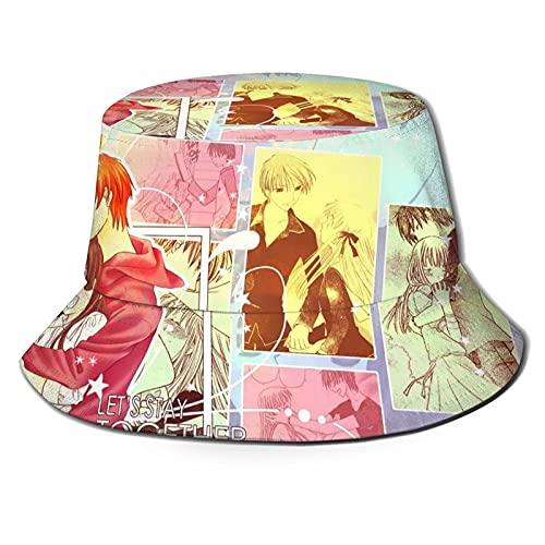 Cesta de frutas unisex con impresión de pescador, sombrero de verano casual, sombrero de verano al aire libre, protección UV, para camping, viajes, senderismo, color negro