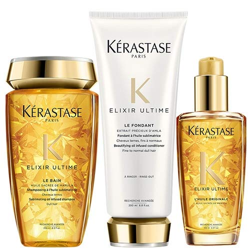 Kerastase Elixir Ultime Bain 250 ml, Elixir Ultime Soin 200 ml y Elixir Ultime L'Originale 100 ml Pack