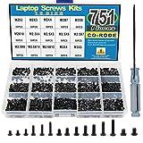 Caja con 751 tornillos para ordenadores portátiles IBM, HP, Dell, Lenovo, Samsung, Sony, Toshiba, Gateway