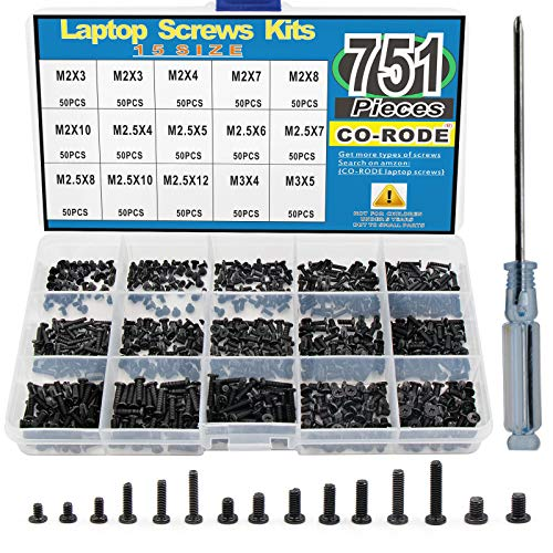 751PCS Laptop Notebook Computer Screws Kit Set with Screwdriver for IBM HP Dell Lenovo Samsung Sony Toshiba Gateway