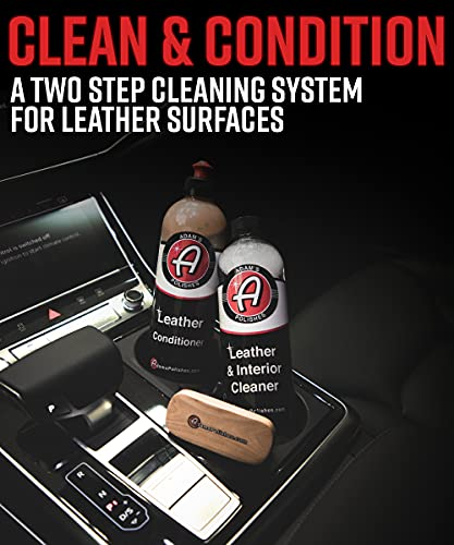 Adam's Leather Care Kit - Leather Cleaner & Leather Conditioner