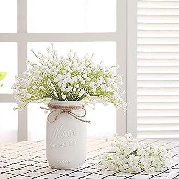 Babies Breath Flowers Artificial Fake Gypsophila DIY Floral Bouquets Arrangement Wedding Home Decor 10PCS