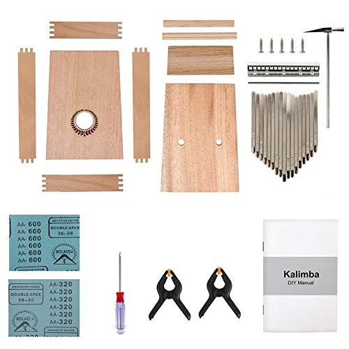 Kalimba, Daumenklavier Kalimba DIY Kit 17 Keys Daumen-Finger-Piano mit Anleitung Tools Tuner Hammer Handwerk Geburtstagsgeschenk for Kind