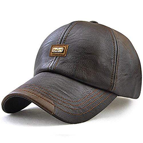Mens Faux Suede Flat Peak Leather Strap Adjuster Baseball Snapback Cap Hat