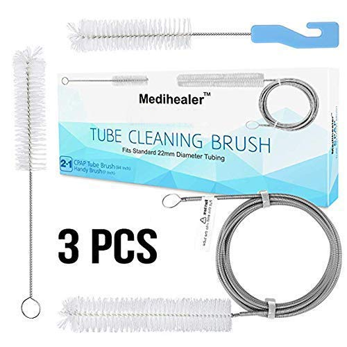 Premium CPAP Tube Hose Cleaning Brush (3 Packs) - Hose & Mask Brush,Supplies for Standard 22mm Diameter Tubing,Stainless Steel 7 Feet and 7 Inch Handy Tube Brush