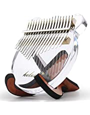 Kalimba Clear Kalimba Thumb Piano 17 Keys with Acrylic Material Portable Mbira Finger Piano Gifts for Kids and Friends