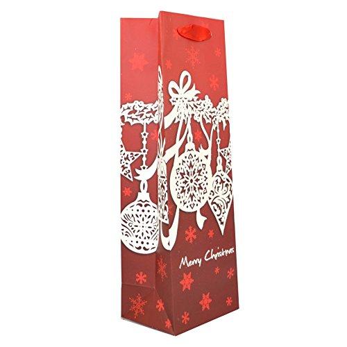 Gifts 4 All Occasions Limited SHATCHI-460 Lot de 3 sacs en papier à paillettes décoratifs pour bouteille de vin