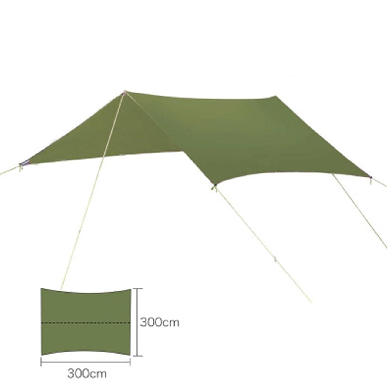 トラフ望み反対キャンプの避難所の防水シートのマットのハンモックカバー、ハンモックのテントのピクニックのための防水反紫外線はえのグランドシート(緑)