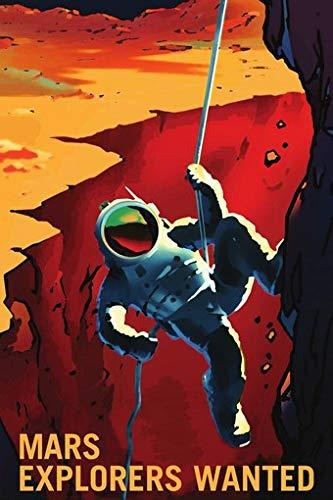 Mars Explorers Wanted NASA Recruitment Retro-Poster 61 x 91 cm