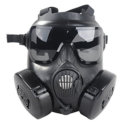 Bageek M50 Airsoft Paintball Protective Full Face Toxic Gas Mask Googles Set