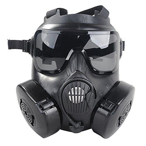 Fanspack M50 Airsoft Paintball Schutz Vollgesicht Giftige Gas Gesichtsabdeckung Googles Set