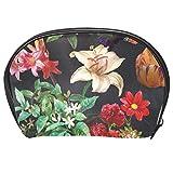 TIZORAX Muriva Brigitte - Neceser de papel pintado con diseño floral, color negro
