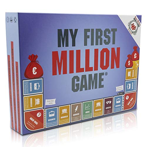 My First Million Game Spiel für Erwachsene I Spiele mit Aktien, Immobilien, und Startups und werde reich I Gesellschaftsspiel Erwachsene I Spiele für Erwachsene ab 16 Jahren