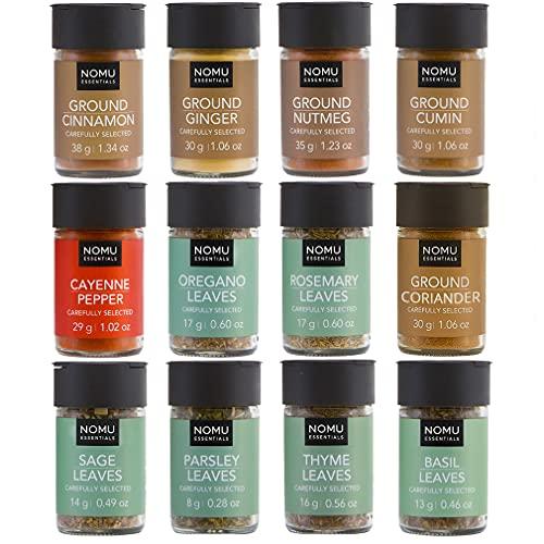 NOMU Essentials 12-Piece Herbs & Spices Starter Set Range (9.8oz)   Non-irradiated, No MSG or Preservatives