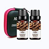Coffee Essential Oil Organic Plant & Natural 100% Pure Coffee Oil for Diffuser, Humidifier, Massage, Sleep, Bath, SPA, Skin & Hair Care -2 Pack x10ml