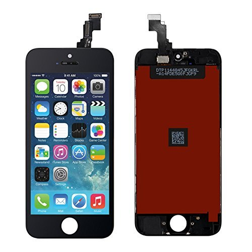 for iPhone 5c Screen Replacement Black (4.0), LCD Display &Touch Screen Digitizer Frame Aseembly Full Set with Free Tools Kit