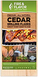 Fire & Flavor Natural Red Cedar Medium Grilling Planks, 5.5 X 11 Inch, 10 Count