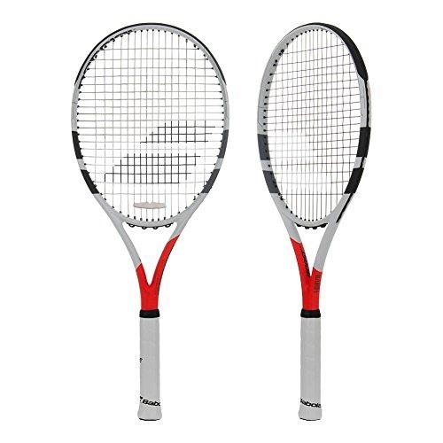 Babolat Boost Strike Strung Raquetas de Tenis, Hombre, Blanco/Rojo, 3