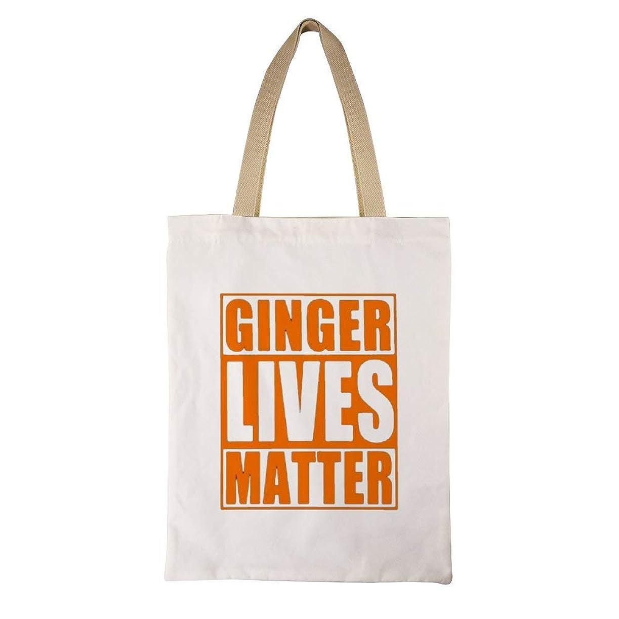 ニュースピクニックをする脈拍Irish Ginger Lives Matter Printed レディース キャンバストートバッグ ハンドバッグキャンバスショルダーバッグ通勤通学 大容量 軽量