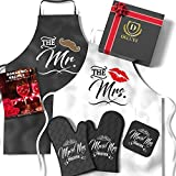Mr & Mrs Aprons For Happy Couple | Best Bridal Shower Gifts For Bride, Engagement Gifts For Her, Wedding Gifts...