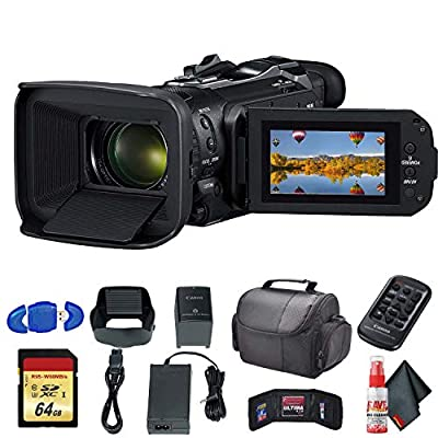 Canon Vixia HF G60 UHD 4K Camcorder (Black) (3670C002) with Padded Case, 64GB Memory Card and More - Base Bundle from Canon