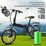 Bunao Bicicleta Eléctrica Plegable con Batería de Litio(36V 8Ah)...