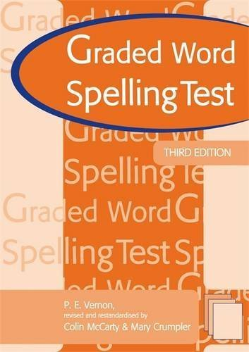 Graded Word Spelling Test 3rd edn: Test Booklet by Mary Crumpler (2006-10-27)