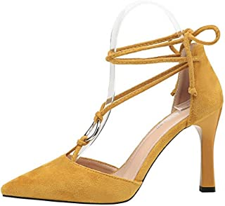 LUKEEXIN Women's High Heel Sexy Strap Single Shoes with Stiletto High Heel Sandals