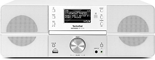 TechniSat DIGITRADIO 361 CD IR - DAB+/Internetradio (WLAN, LAN, DAB, UKW, CD-Player, Bluetooth, Radiowecker, WiFi Streamingfunktion, AUX-In, Stereo, 2 x 5 Watt Lautsprecher, Fernbedienung) weiß