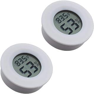 Digital Instant Read Thermometer Hygrometer, Tiamat Indoor Temperature Humidity Meter Detector, Electronic Thermometer for Kitchen, Indoor Garden, Cellar, Fridge, Closet (2PCS White)