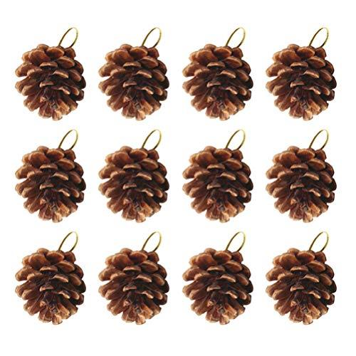 Toyvian Cono de Pino de Navidad Adornos Colgantes de árbol de Navidad piña Natural para decoración Artesanal de Bricolaje 49 Piezas