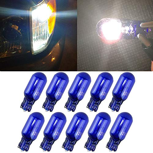 10pcs T10 W5W 168 194 Halogen bulb 12V for Car Wedge Side Light Bulb White Car Tail Light Side Parking Dome Door Map Lighting