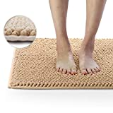 Delxo Indoor Durable Chenille Door mat 24'X 36' Extra Soft and Absorbent Machine Wash and Dry Inside Mats, Low-Profile Rug Doormats for Entry, Mud Room Mat, Back Door, High Traffic Areas, Beige