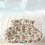 Hmg Patio jardín Colgante Silla de la Cesta Mecedora Esponja oscilación cojín del Asiento, Tamaño: 140x105x10cm (Rosa) (Color : Pink)