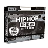 USAopoly Hip Hop Bid to Win Trivia Game | Music Board Game Featuring 600 Questions with a Hip Hop Trivia Theme | Custom Game Box Converts from Boom Box Into Gameboard | Collectible Board Game