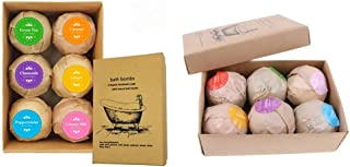Prettyia 12 Pieces Bath Bombs, Bath Fizzies - Assorted Gift Perfect Gift For Her/Him, Wife, Girlfriend Spa Moisturize Kit