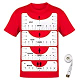 Hbsite 4Pcs Righello T-Shirt, 4 Taglie T-Shirt Allineamento Artigianale Strumento, con Strumento di Centraggio in Vinile per Abbigliamento, per Il Design di Stampa di Magliette