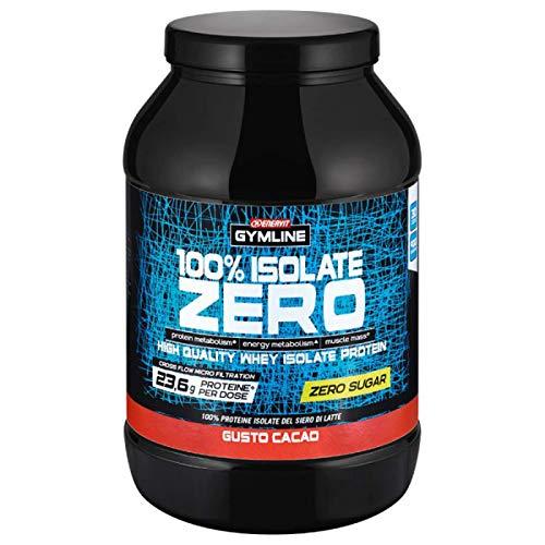 Enervit Gymline 100% Whey Proteine Isolate Zero Zuccheri Gusto Cacao 900 g