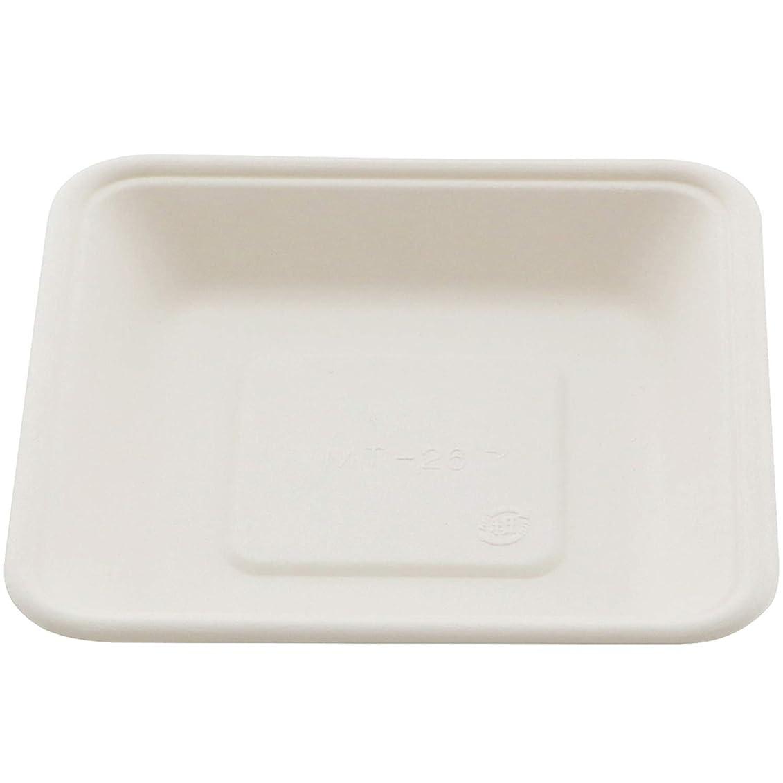 アレイ付添人イデオロギーナガオ 使い捨て 紙食器 角皿 14.1cm 50枚セット 3289914