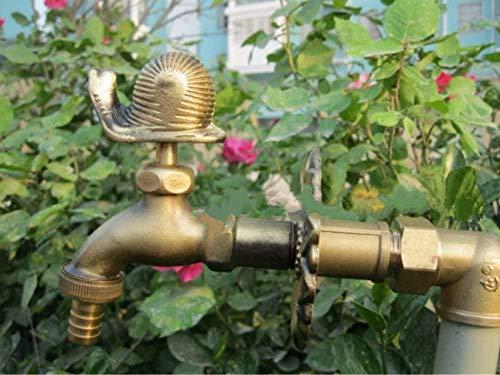 Grifo decorativo exterior grifo exterior Animal rural jardín Bibcock con bronce antiguo caracol grifo para lavadora