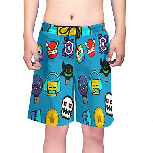 Wahom Geometry Dash - Icons Costume da bagno da uomo stampato ad asciugatura rapida, con fodera in...
