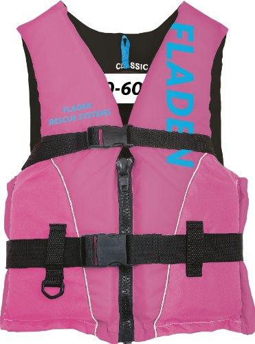 Fladen Classic Schwimmhilfe/ Schwimmweste, 50 N Auftrieb Rosa Pink/Blue 60+ Kg