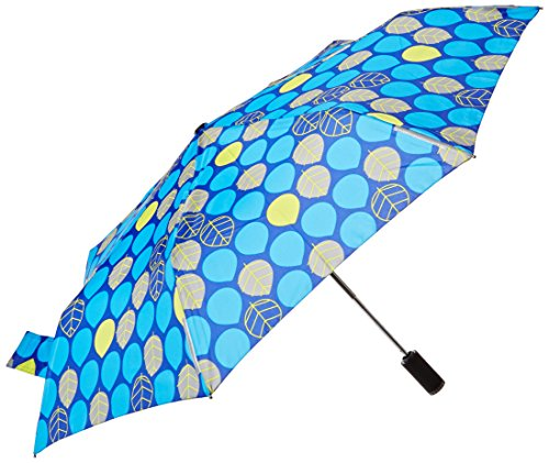 totes Trx Auto Open and Close Light N Go Traveler Umbrella with Built in Led Flashlight, Leaves, One Size