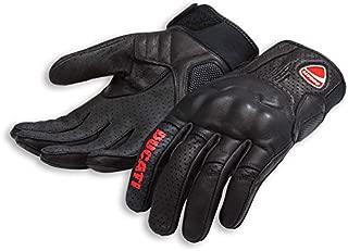 Ducati Logo C1 Speed Leather Motorcycle Glove Black Large