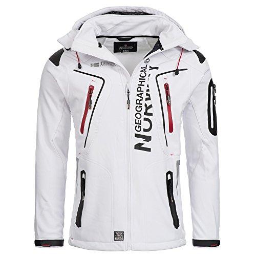 Geographical Norway TANGATA Herren Softshell Jacke Softshelljacke S-XXL, Größe:XL;Farbe:Weiss