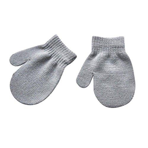 Qiuday Kinder Fleece-Fäustlinge super weiche Unisex Winter-Handschuhe Winter Handschuhe Kleine Mädchen Weiche Strickhandschuh Baby Jungen Winter Strickhandschuhe für 1–4 Jahre