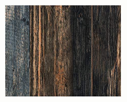 Glorex 6 1330 005 Design behang, houten planken, ideaal voor knutselen en decoreren, ca. 120 x 53 cm.